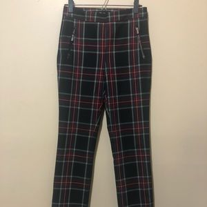 Small Zara Plaid Fitted Women's Pant
